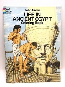 LIFE IN ANCIENT EGYPT Dover Coloring Book Very Detailed John Green