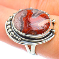 Crazy Lace Agate 925 Sterling Silver Ring Size 8 Ana Co Jewelry R56398F