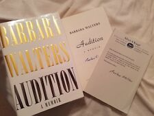 RARE! Barbara Walters AUTOGRAPHED book Audition A Memoir SIGNED PROMOTIONAL COPY