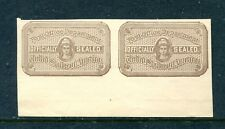 Us Ox5a, 1898 Official Seal, Imperf Pair, Mnh (Id6710)