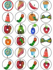 The Very Hungry Caterpiller Edible Cupcake Topper Party Decoration PRECUT