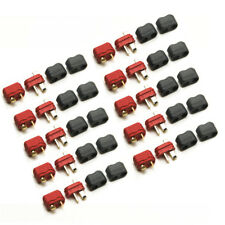 10 Pairs T Plug Deans Connector with Sheath Housing Male + Female for RC Battery
