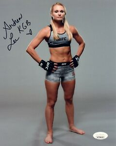 ANDREA KGB LEE Autograph Signed 8x10 Photo #14 UFC JSA WITNESS COA FLYWEIGHT