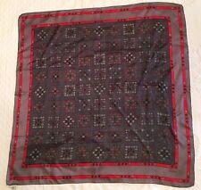"Echo Square Scarf Geometric Pattern Grey Red Black White Green Blue 26""X26"""