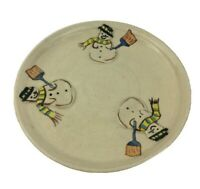 Snowman Glazed Pottery Dish