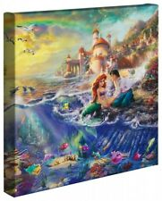 Thomas Kinkade Wrap Little Mermaid 14 x 14 Wrapped Canvas Disney Ariele