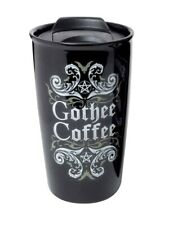 Alchemy Travel Mug Gothee Coffee Double Walled Black 9x15x9cm