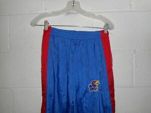 Vintage 90s Kansas Jayhawk Windbreaker Breakaway Nylon Pants M/L