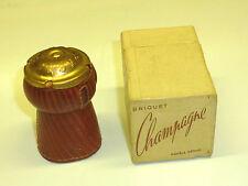 Champagne Vintage French pocket lighter-briquet-modele déposé-Neuf dans sa boîte-Nice