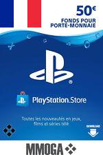 €50 EUR Clé PlayStation Network - 50 EURO PSN Code - Pour compte français - FR
