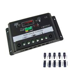 30A 12V/24V Auto Switch MPPT Solar Panel Charge Controller + 5 pair Connector BA