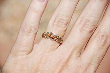 Natural Hessonite Garnet, Two Tone 18k Gold, Size 7.5, Custom Made Designer Ring