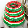 1pc Kids Swim Ring Inflatable Watermelon Float Toy Tubes Swim Laps Swimming Pool