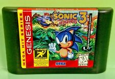 Sonic the Hedgehog 3  -  Sega Genesis - Game - Rare & Tested - Sonic Tails Fun !