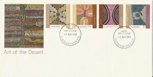 1988 Australia - Art of the Desert FDC - Burwood NSW 2134 PMK
