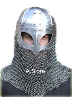 Armor Viking Helmet with Chainmail Aventail One Size