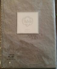 """New PIU BELLE PIUBELLE Portugal Gray with Lace Tablecloth 60"""" x 84"""" Cotton/Linen"""