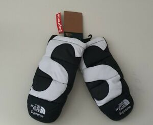FW20 Supreme The North Face S Logo Mitts TNF small gloves black WATER RESISTANT