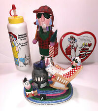 Lot of Hallmark Maxine Items Nutcracker Water Bottle Valentine Tin Vgc