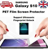 Full Edge-to-Edge Fingerprint Compatible PET Screen Protector for Samsung S10