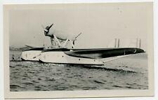 Hydroplane Vintage Aviation Photo Postcard