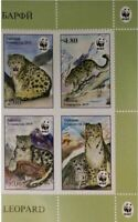 New Tajikistan 2019 WWF - Snow Leopard 4V MNH
