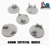 3D Printed - 40mm Scenic Crystal Cluster Bases Set of (5)