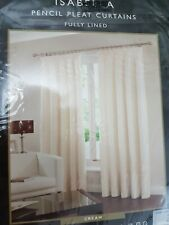 """NEW ISABELLA PENCIL PLEAT CURTAINS FULLY LINED. FLORAL. SIZE 46"""" WIDE. 54"""" DROP."""