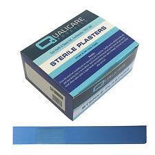 Qualicare estéril Azul Catering yema del dedo Clavo de extensión yesos 16cmx2cm x50