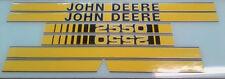 John Deere 2550 Hood Decals