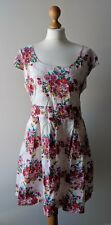 Dorothy Perkins Size 20 Dress Floral Print Tea Dress White Pink Red Short Sleeve