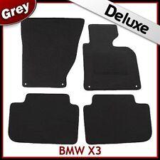 BMW X3 E83 2003-2010 4-eyelets Tailored LUXURY 1300g Carpet Car Floor Mats GREY