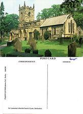 1980's St LAWRENCES PARISH CHURCH EYAM DERBYSHIRE UNUSED COLOUR POSTCARD (a)