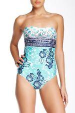 Nanette Lepore Batiki Print Goddess One-Piece Swimsuit Size S Small #I37-39