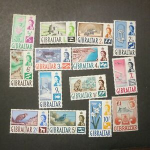 Gibraltar Sc.147-160, Mint, OG, VLH, VF, Cv. $82.50