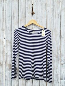 Nil. Striped Jersey Scoop Neck Long Sleeve Top S/M -Was Selling At Anthropologie