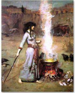 Magic Circle (The Witch) by John William Waterhouse 11 x 14 Print