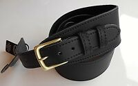 "UK MADE BLACK 2.5"" WIDE GENUINE LEATHER BUCKLE ACOUSTIC /ELECTRIC GUITAR STRAP"