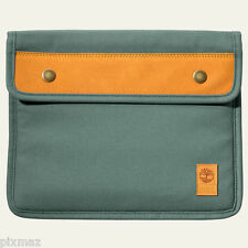 Timberland Unisex Natick Water-Resistant Green Cotton Tablet Sleeve Style J0810