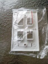 100 -4 Port Keystone Faceplate White w/Windows RJ45 Face Plate USA SELLER!