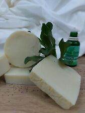 tea tree almond oil natural soap Handmade in Wales🏴
