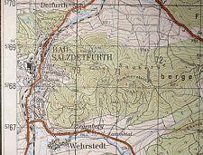 3926 Bad Salzdetfurth, topographische Karte, 1:50.000, Druck 1960, ungefaltet !!