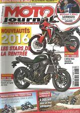 MOTO JOURNAL N°2157 YAM XSR 700 / HONDA CRF 1000 L /DUCATI MULTISTRADA 1200S DVT
