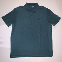 Izod Green Polo Collared Short Sleeve Shirt Men's Size XL