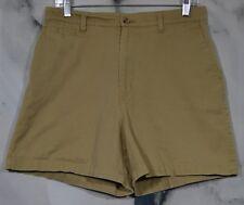 ST. JOHN'S BAY Tan Khaki Shorts 10 Four Pockets 100% Cotton Summer Unlined