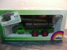 1:87 embalaje original Siku Farmer 1843 John Deere con cargador frontal y remolques