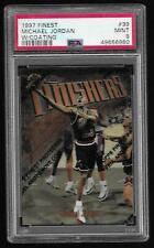 1997-98 Finest w/Coating Michael Jordan Bulls PSA 9