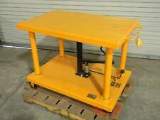 Hydraulic Post Lift Table Cart 2000 Lb Cap 48 X 32 Platform 59 Max Height