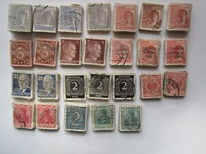 LOT 1726 STAMPS GERMANY REICH  11 MODELS CIRCULATED