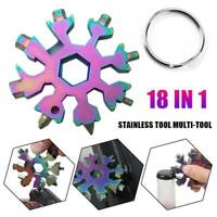 18 In1 DIY Stainless Multi-Tool Portable Snowflake Design Key Chain Screwdriver